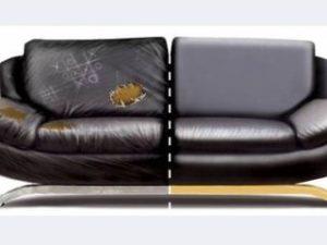 Перетяжка кожаного дивана в Ижевске